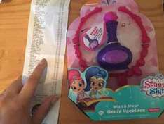 shimmer and shine Genie Necklace from Tesco £2.40 was £12.95