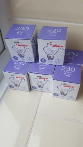 Wilko GU10 3w LED light bulbs ONLY 25p each