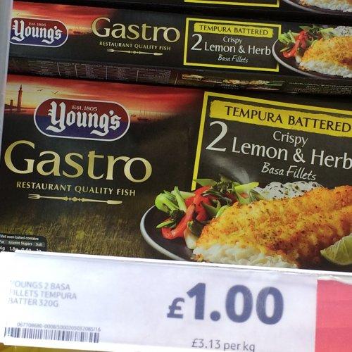 Young's Gastro Basa Fillets in Lemon and Herb Tempura Batter £1 @ Tesco instore