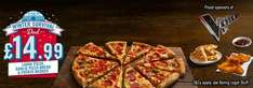 Domino's Pizza, Any large + medium pizza + garlic bread + wedges £20 delivered