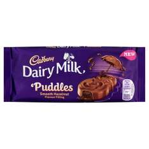 3 x 90g bars Cadbury Dairy Milk Puddles Hazelnut Chocolate Bar for £1 @ heron