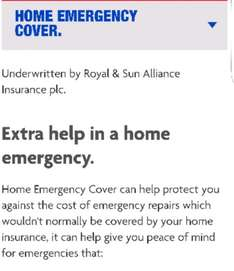 saves £100s by checking your bank for home emergency cover - electric plus more £4.31 PM or free depending  on insurance