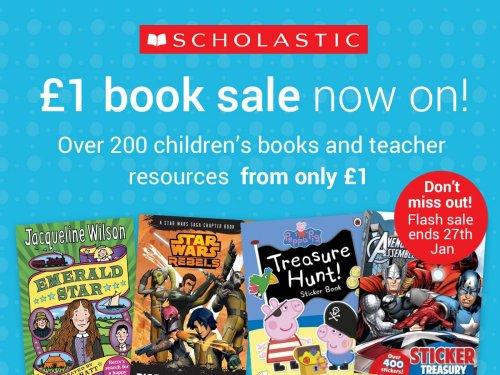 Scholastic £1 book sale starts today (Min order 10 books & £3 P&P)