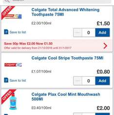 Colgate Cool Stripe toothpaste 75ml 30p at Tesco with coupon