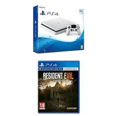 Sony PlayStation 4 PS4 Glacier White 500GB + Resident Evil 7 (Pre-order January 24th 2017) £229.99 @ Amazon