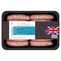 Waitrose free range pork sausages (800gr), half price - £2.50