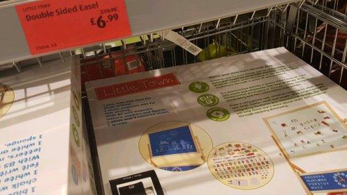 children's double sided easel now £6.99 Aldi Stalybridge
