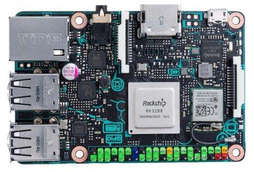 Asus Tinker Board (raspberry pi competitor). Quad cortex A17 1.8ghz, 2GB LPDDR3, gigabit ethernet, 4x usb 2.0, hdmi 2.0, 802.11n Wifi, bluetooth 4.0 £55 delivered @ CPC