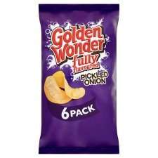 6 pack Golden Wonder crisps (Ready Salted/Pickled Onion flavours) 49p at Heron Foods