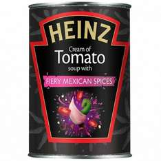 Heinz cream of tomato soup with fiery Mexican spices just 10p! rrp £1.19 @ poundstretcher