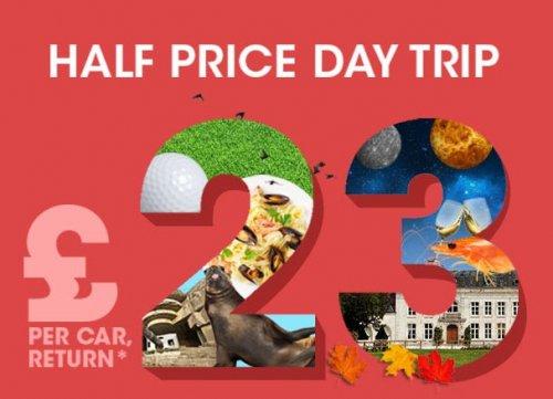 Eurotunnel Half Price Day Trip - £23 Return - (14th - 16th Feb 2017)