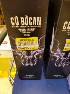 Local Deal Tomatin Malt Whisky ( lightly smoked and infused with citrus and spices) £13.42 instore @ Tesco Camelon