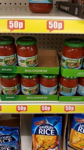 Dolmio Bolognese sauce  50p @ poundland