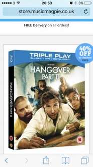 Used: Blu Ray The Hangover 1 & 2 £1.19 each @ Music Magpie