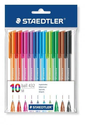 Staedtler 43235MPB10 Rainbow Ballpens - Pack of 10 £2.00 on Amazon (add-on item)