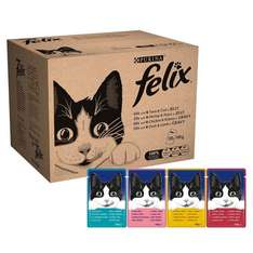 Felix Wet Cat Adult Food Pouch, 120 x 100 g 25% off + 5% or 15% £15.27 with S&S OR (80 x 100g) £11.45 @ Amazon