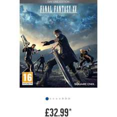 Final Fantasy XV Steelbook Special Edition Xbox One / Ps4 Game £32.99 at Argos