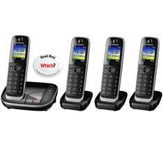 Panasonic KX-TGJ324EB Quad Handset Cordless Home Phone with Nuisance Call Blocker and LCD Colour Display (Black) was £155.99 now £84.99 @ Amazon (Prime only)