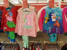 Peppa/George/Finding Dory pyjama was 12.00 now 3.60 @ boots Colliers Wood