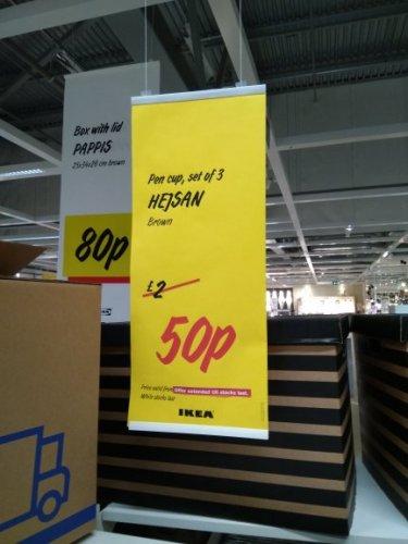 Ikea Pen cup set of 3 50p HEJSAN