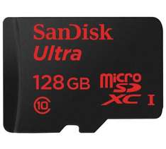 SanDisk Ultra 128 GB MicroSDXC UHS-I Memory Card with SD Adapter - was £59.99 now £23.74 @ Amazon / Tesco (C&C)