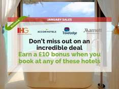 £10 cashback bonus when you book at Holiday Inn, Marriott, Travelodge or Accor Hotels @ Quidco