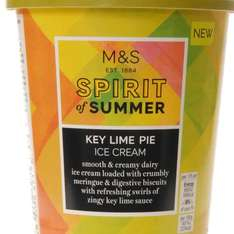 key lime ice cream for 75p in M&S food!