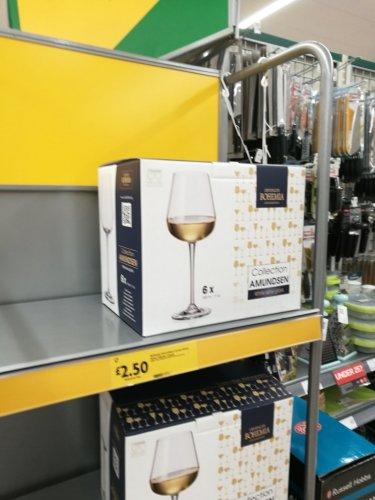 Morrisons - 6 Bohemia Amundsen White Wine Glasses 330ml , £2.50 was £7 instore