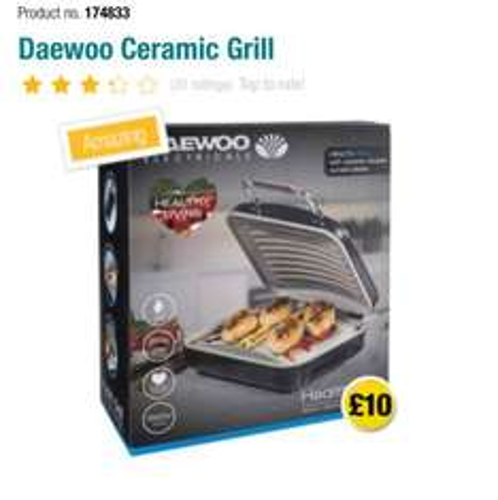 Daewoo Ceramic Health Grill £10 instore @ Poundland