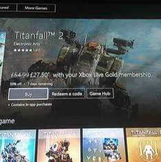 50% off Titanfall 2 with Gold £27.50