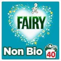 40 Wash Fairy Washing Powder Non Bio 40 Washes  Fairy Washing Powder Non Bio 40 Washes 2.6KG £5 Asda