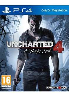 Uncharted 4 PS4  £19.99  simplygames