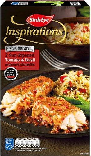 Birds Eye Inspirations 2 Sun-Ripened Tomato & Basil Fish Chargrills 300g Half Price now £1.75 were £3.50 @ Iceland