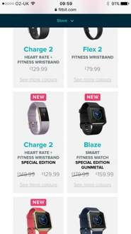 Fitbit charge 2 limited edition from Fitbit special offer price of £129.99