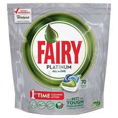 Fairy Platinum All-in-One Dishwasher Tablets - 70 Tablets for £8.64 @ Amazon with voucher and S&S (Free delivery for Prime members)