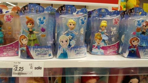 Tiny disney frozen dolls. £2.25 asda instore (Stevenage)