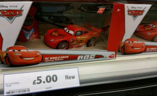 Licenced Disney Pixar RC Lightning McQueen 1:32 £5 instore only @ Tesco
