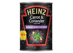 spicy carrot and coriander Heinz soup Poundstretcher 10p