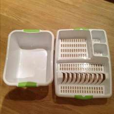 TESCO INSTORE washing up bowls and drainers - was £3.00 now 75p each