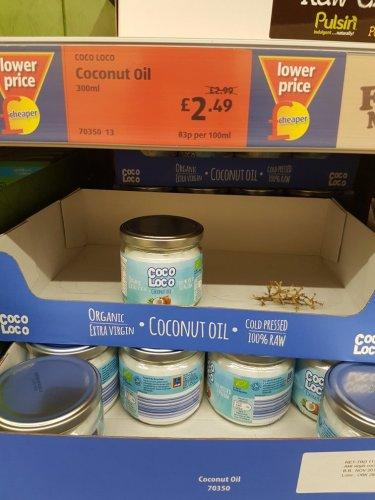 organic, cold pressed, extra virgin coconut oil £2.49 @ Aldi