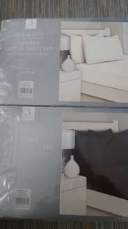 double fitted sheet set - 10p instore @ B&M