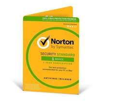 Norton Security Standard 1 Year 1 Device (instant download) - down to £9.99 via a special code @ Norton