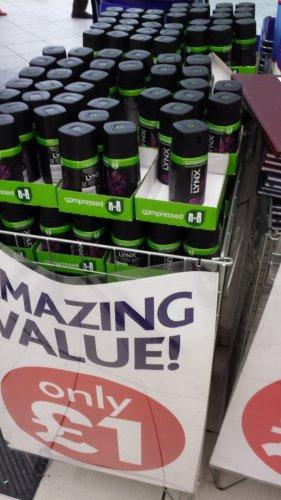 Lynx Excite / dark temptation 100ml deodorant bodyspray - £1 @ Poundworld