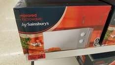 19ltr Mirrored Microwave now only £20 instore @ Sainsbury's Exeter (Alphington store)