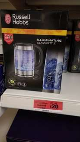 Russel Hobbs Illuminating Glass Kettle £20 @ Sainsburys - Stratford Centre London