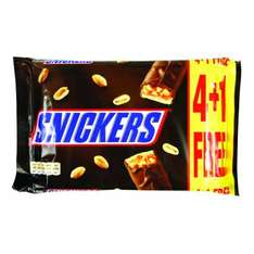 Snickers 4+1 PK 50p at Poundstretcher
