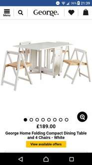 Folding table and chairs £40 instore @ Asda MK Stadium