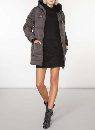 Grey Zip Detail Padded Coat £27 @ Dorothy Perkins (free C&C)