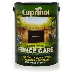 Cuprinol Less Mess Fencecare Half Price £5 with free c+c at Wilko