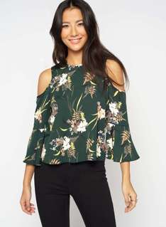 Extra 20% off sale with code eg fern print cold shoulder top was £32 now £12.80 more in post @ Miss Selfridge